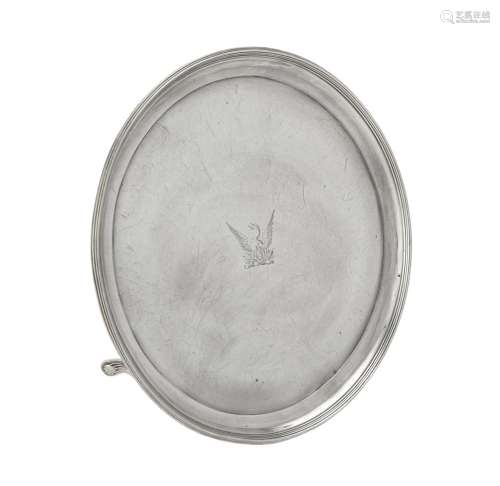 A George III silver circular waiter by Langlands I & Roberts...