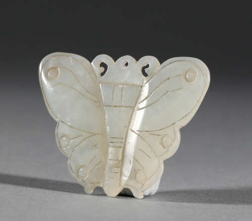 Hetian Jade Butterfly in Qing Dynasty