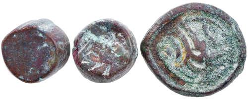 清 新彊 普爾古銅幣 共3個