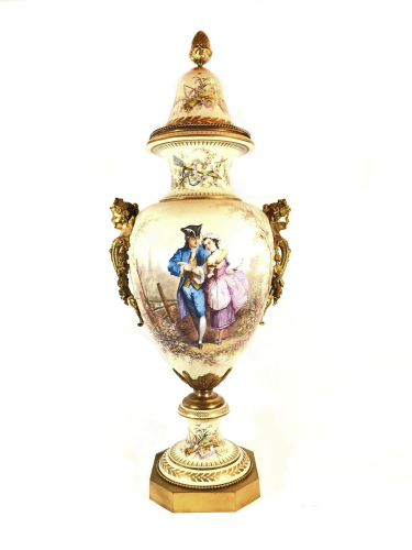 Antique French Sevres Porcelain Vase