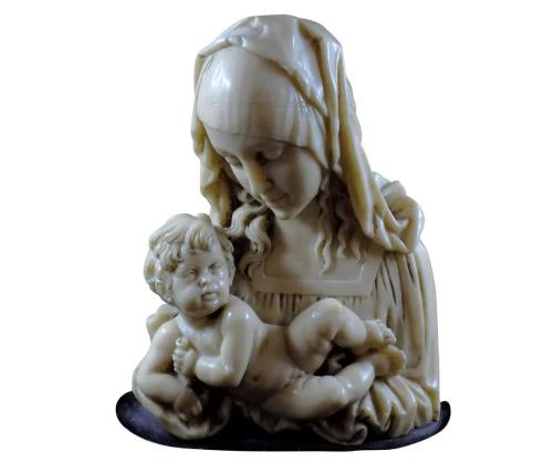 ANTIQUE COMPOSITE MADONNA AND CHILD