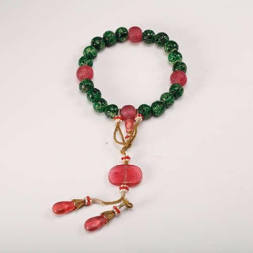 Jadeite And Tourmaline Prayer Beads