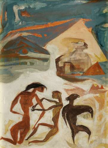 Hamed Nada (Egypt, 1924-1990) In the Shadow of the Sphinx