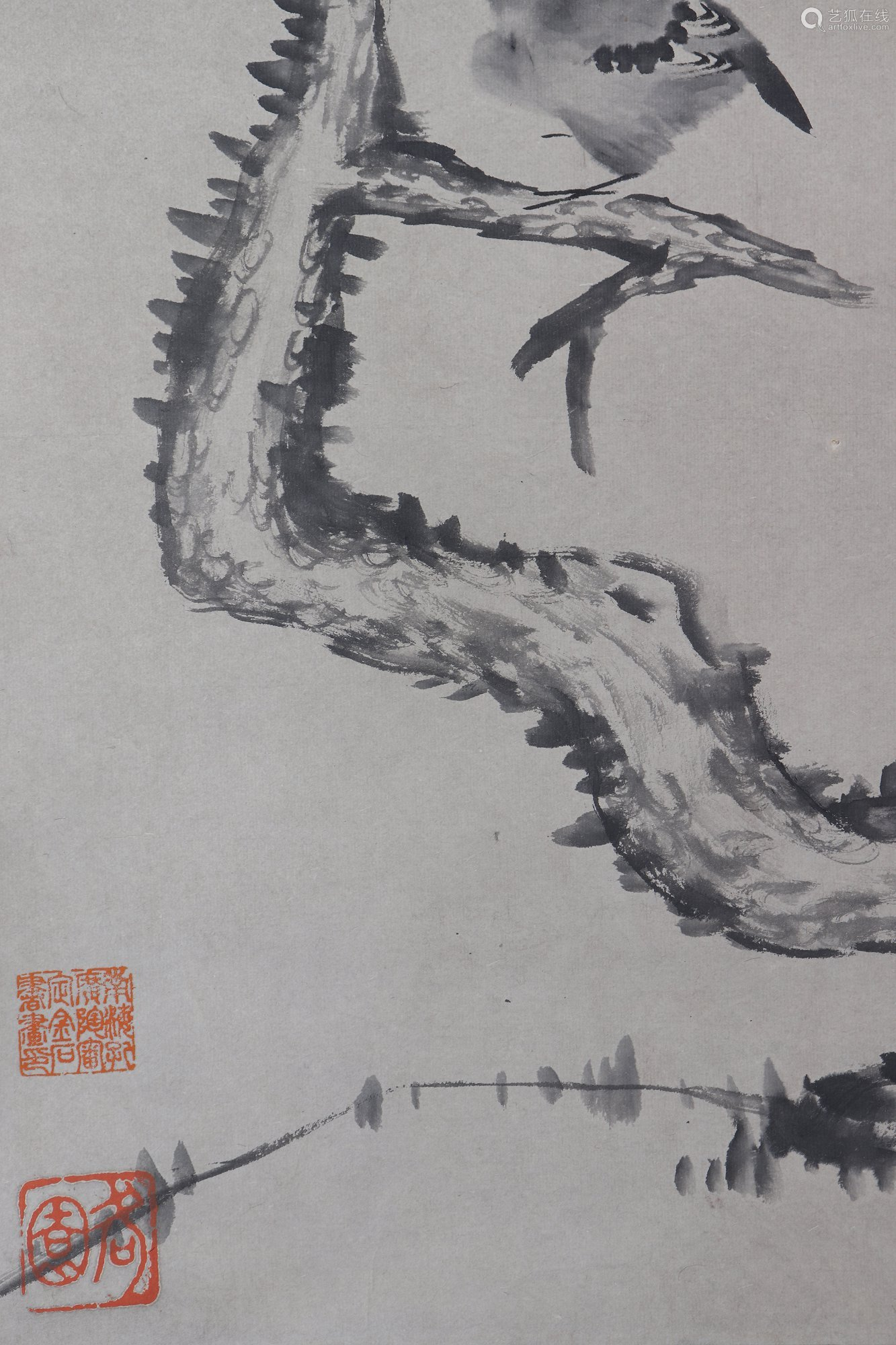 chinese ba da shan ren's painting