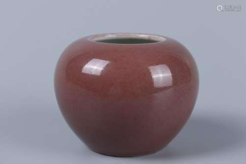 chinese peachbloom glazed porcelain water pot