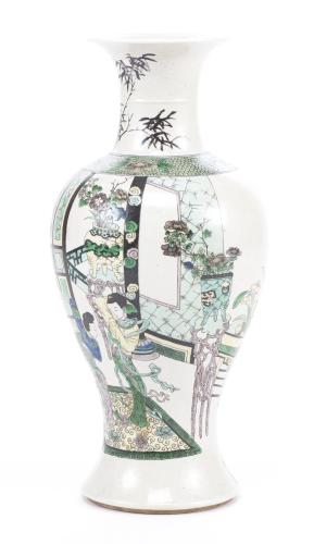 Vase Yenyen en biscuit de Chine, époque Qing