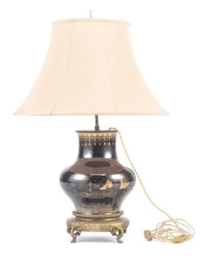 Lampe de table à pied en porcelaine de Chine