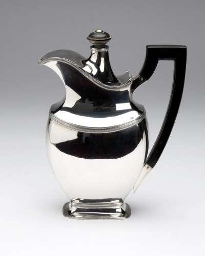 A Dutch silver chocolate pot