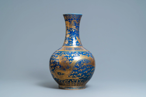A large Chinese vase, Guangxu mark and of the period