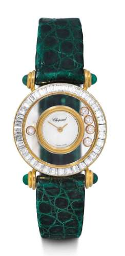 Chopard, montre pour femme Happy Diamond. Or jaune 750.D 26,...