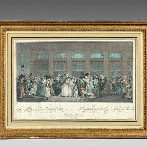 Promenade de la Galerie du Palais-Royal, 1787, gravure aux o...