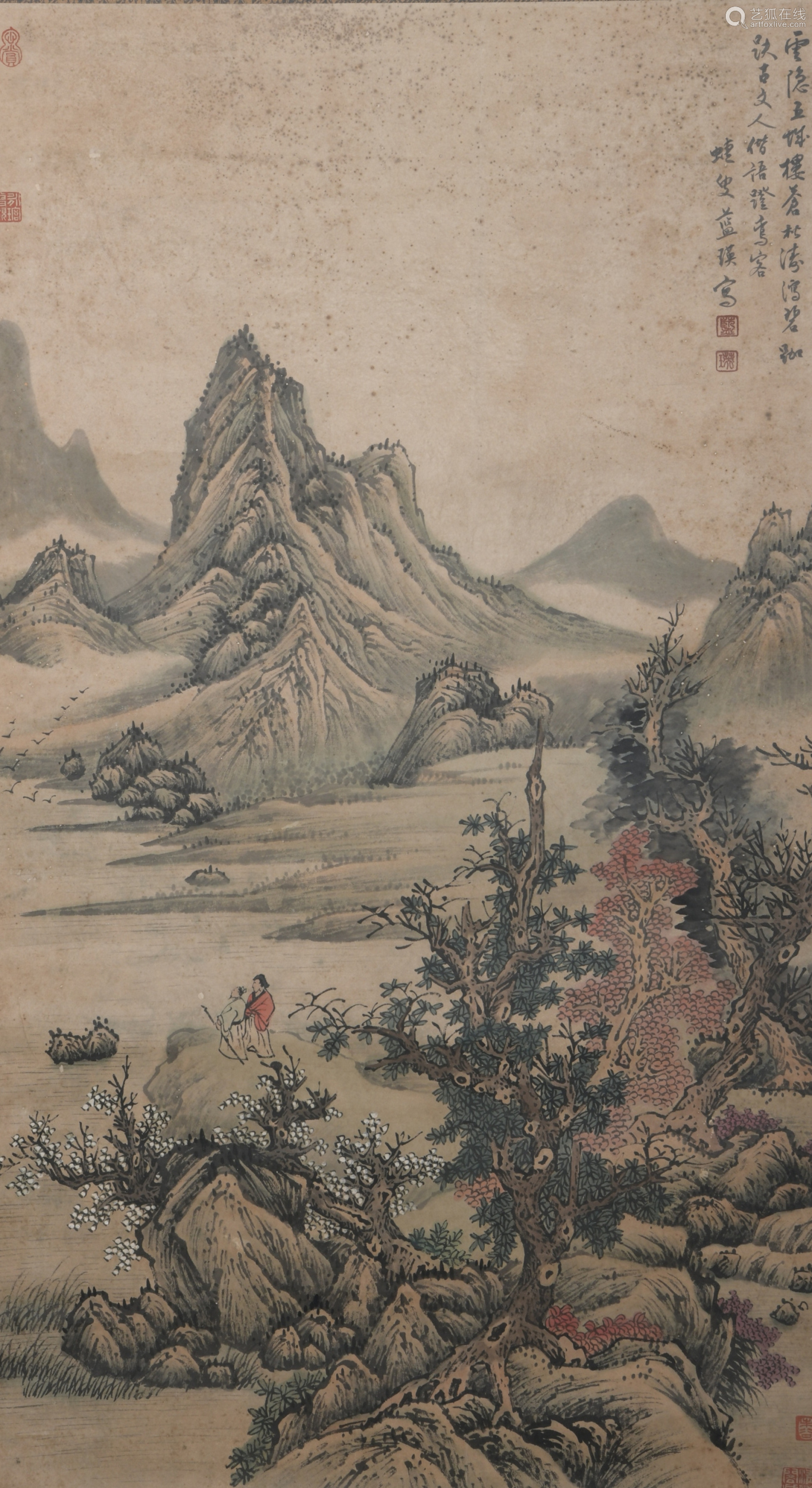 A Lan ying's landscape painting
