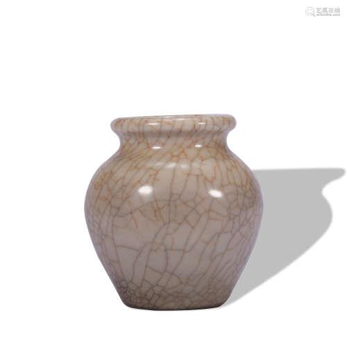 A officer glazed vase