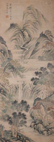 A Wang meng's landscape painting