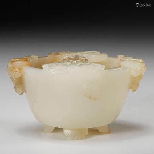 Chinese White Jade Brush Washer