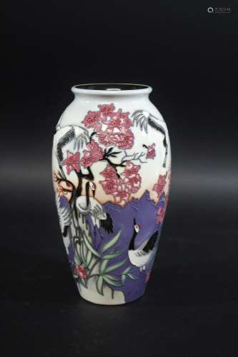MOORCROFT LIMITED EDITION VASE in the Courting Cranes design...