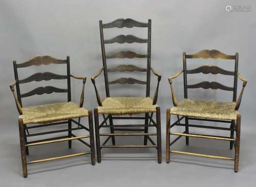ERNEST GIMSON (1864-1919) - ARTS & CRAFTS CHAIRS including a...