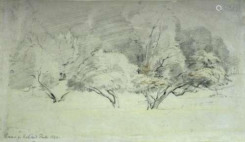 GEORGE RICHMOND, RA (1809-1896) THORNS IN ASHTEAD PARK 1842 ...
