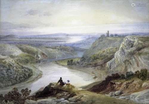 SAMUEL JACKSON (1794-1869) A VIEW OF THE AVON GORGE, WITH CO...
