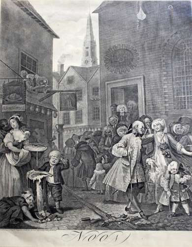 BY or AFTER WILLIAM HOGARTH (1697-1764) MORNING; NOON; EVENI...