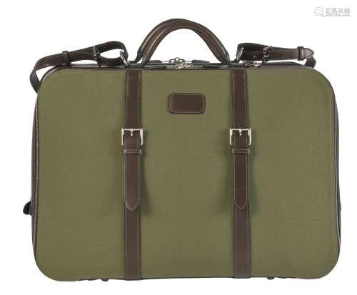 HERMÈSDeux sacs de voyage HECTORVeau Chamonix marron, toile ...
