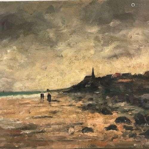 Alfred CASILE (1848-1909) Paysage de Bretagne Huile sur toil...