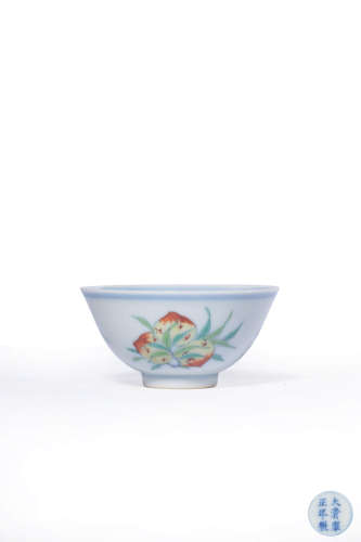 chinese blue and white doucai porcelain cup