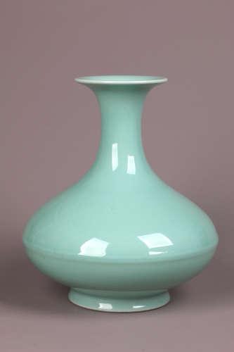 Misty Blue Glazed Vase