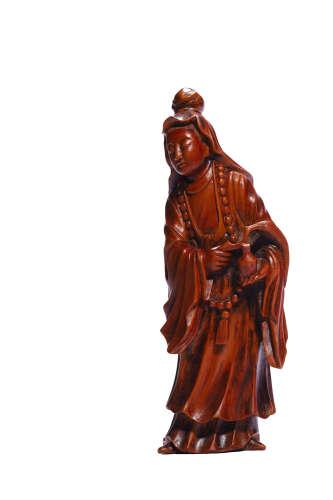 Chinese Hardwood Carved Figurine