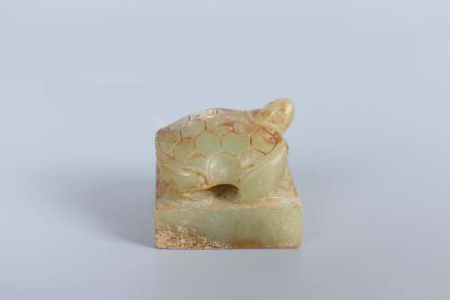 chinese jade turtle-shaped seal