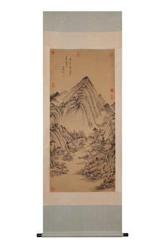 Vertical Painting: Landscape by Wang Jian