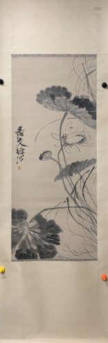A Xu wei's lotus painting