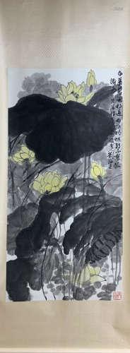 A Liu haisu's flowers painting