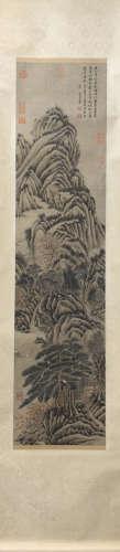 A Wang hui's landscape painting