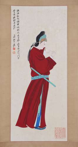 Chinese zhang daqian's painting