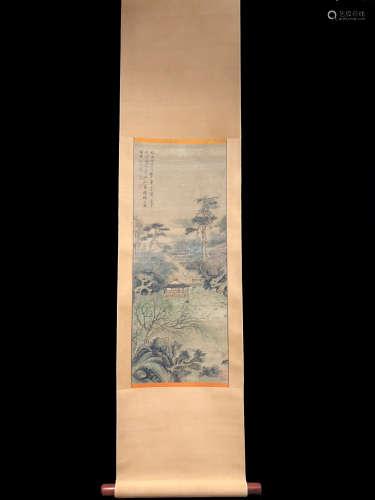 A Shen zhou's landscape painting