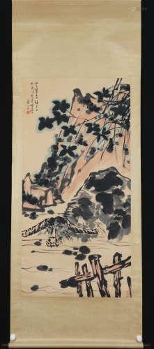 A Pan tianshou's cattle painting