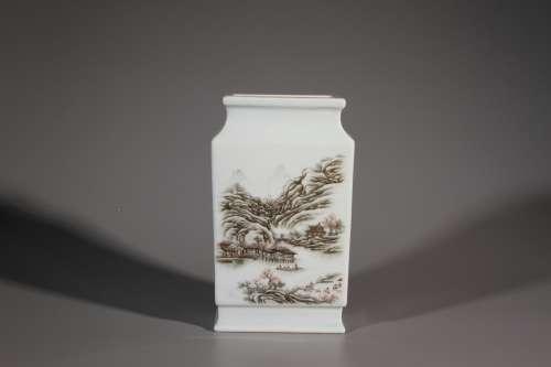 Ink Colour Flat Vase