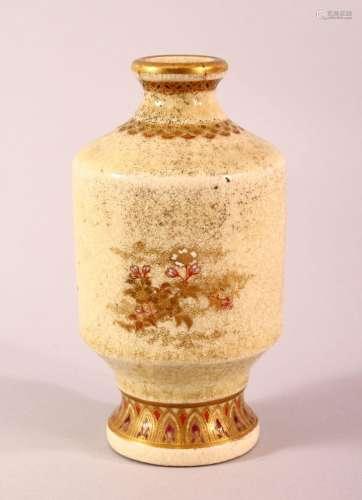 A JAPANESE MEII PERIOD SATSUMA VASE - decorated with simplis...