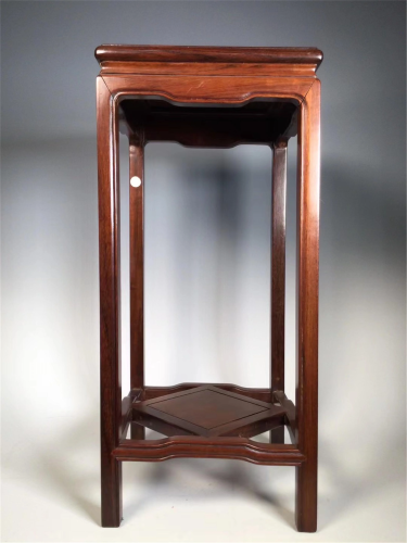 A MOTHER-OF-PEARL INLAID HARDWOOD FLOWER STAND