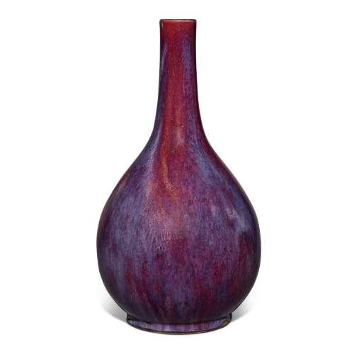 A flambé-glazed bottle vase, Qing dynasty, 18th / 19th centu...
