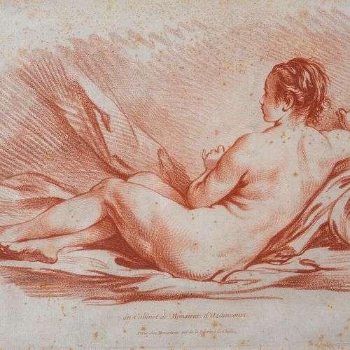 François BOUCHER (1703-1770), d'après, Femme nue couchée vue...