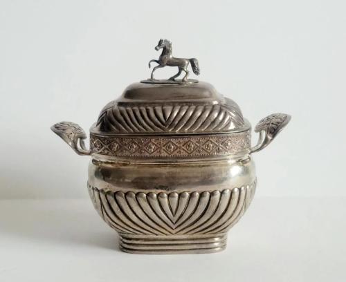 19C Russian Silver Sugar Bowl 1828