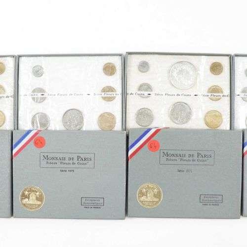 Monnaie de Paris Série FDC 1971 - 1972 - 1973 complété à 8 e...