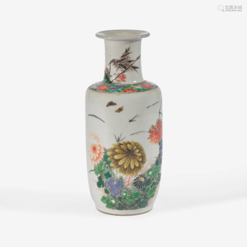A small Chinese famille verte-decorated porcelain