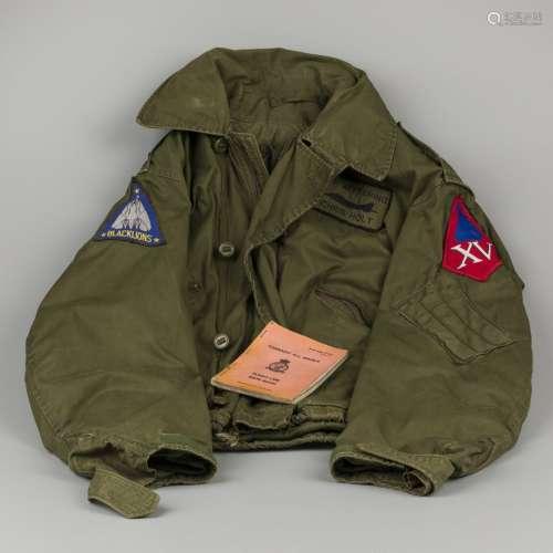 A flight jacket / bomber jacket, Black Lions, F14 Tomcat, to...