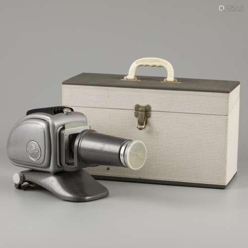 Noris Plank 300 metal diapositive projector, '60s.