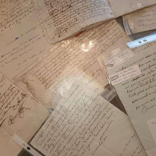 HAUTE LOIRE - VELAY. Important ensemble de documents du XVII...