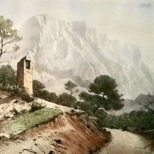 DREVET (Joanny). Aix-en-Provence – [Montagne] Sainte Victoir...