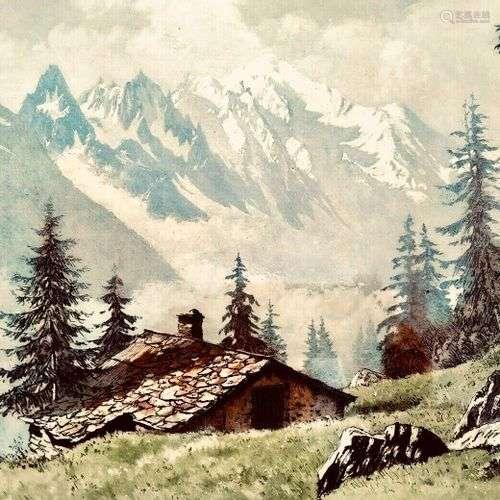 DREVET (Joanny). Ferme du Chenavy (Mont Blanc). Becc. 164. e...